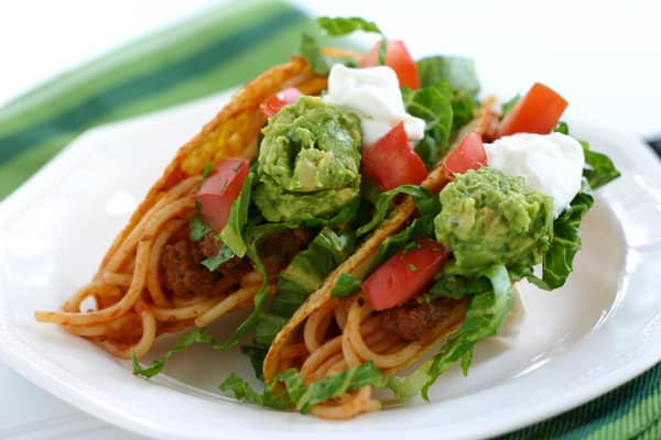 Spaghetti Tacos @EclecticEveryday