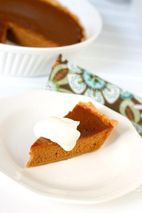Apple Butter Pumpkin Pie  by EclecticRecipes.com #recipe