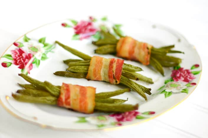 Bacon Wrapped Green Beans by EclecticRecipes.com #recipe