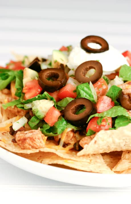 Go Saints! and Blackened Chicken and Black Bean Nachos  by EclecticRecipes.com #recipe