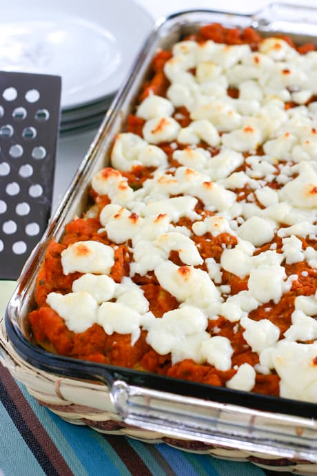 Spicy Pumpkin Enchiladas by EclecticRecipes.com #recipe