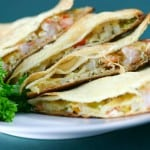 Shrimp and Crab Quesadillas @EclecticEveryday