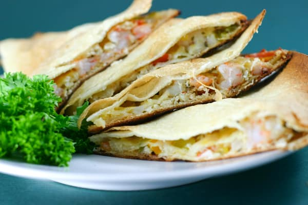 Shrimp and Crab Quesadillas and the Biggest Giveaway Yet! by EclecticRecipes.com #recipe