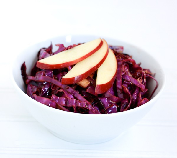 Red Cabbage Salad with Cranberries by EclecticRecipes.com #recipe