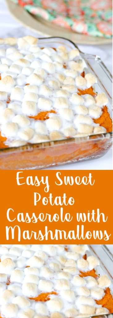 Easy Sweet Potato Casserole with Marshmallows @EclecticEveryday