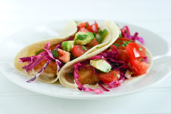 Baja Fish Tacos by EclecticRecipes.com #recipe