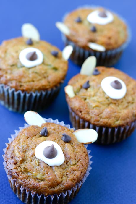 Apple Bear Muffins by EclecticRecipes.com #recipe