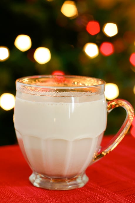Warm Spiced Milk by EclecticRecipes.com #recipe