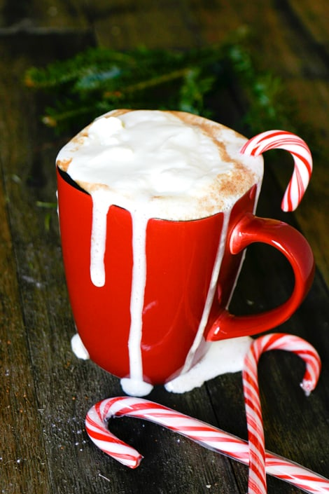 Santas favorite Hot Chocolate: Peppermint by EclecticRecipes.com #recipe