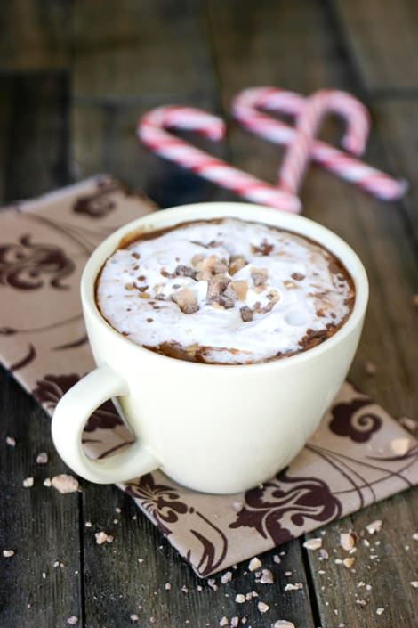 Hot Toffee Chocolate by EclecticRecipes.com #recipe