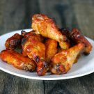 Spicy Bayou Bourbon Glazed Wings @EclecticEveryday