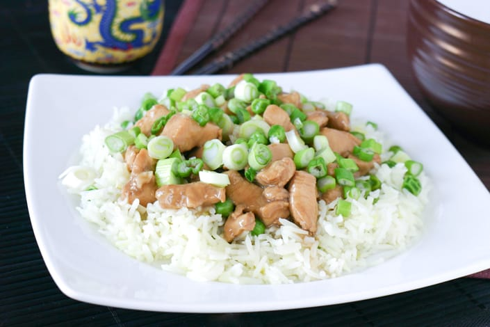 Bourbon Chicken by EclecticRecipes.com #recipe