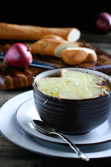 French Red Onion Soup by EclecticRecipes.com #recipe