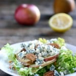 Apple Pear Gorgonzola Salad @EclecticEveryday