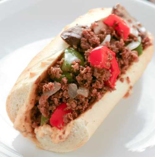 Steak Sandwich with Spicy Mayonnaise by EclecticRecipes.com #recipe