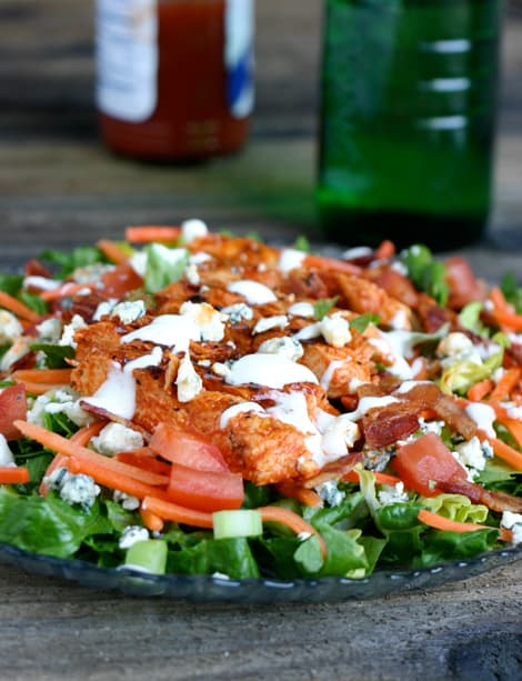 Buffalo Chicken Salad by EclecticRecipes.com #recipe