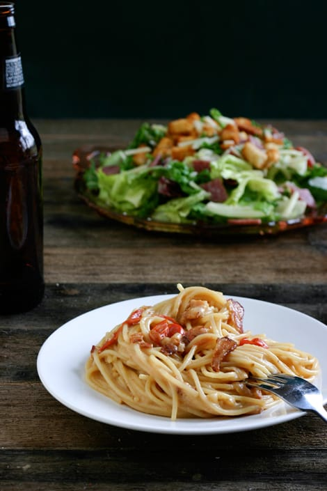 Bacon and Beer Carbonara by EclecticRecipes.com #recipe
