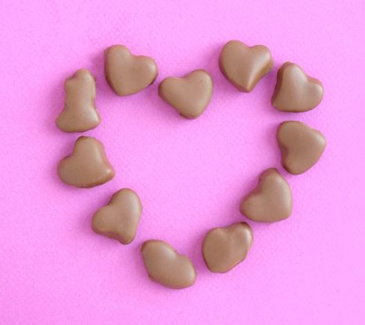 Heart Shaped Peppermint Patties by EclecticRecipes.com #recipe