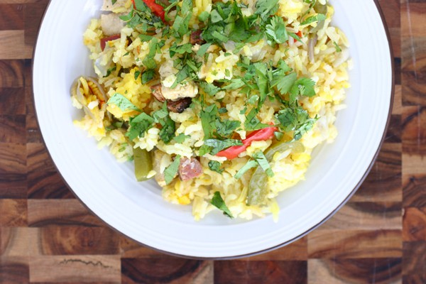 Chicken Paella by EclecticRecipes.com #recipe
