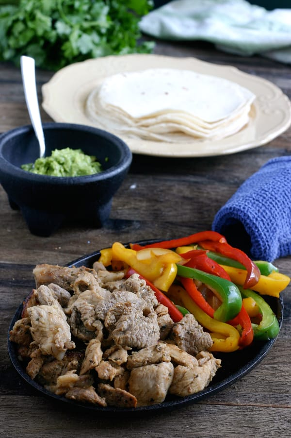 Marinated Pork Fajitas by EclecticRecipes.com #recipe