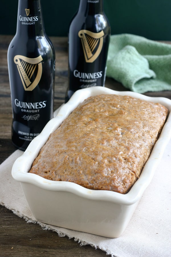 5 Ingredient Guinness Quick Bread by EclecticRecipes.com #recipe