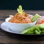 Roasted Red Pepper Hummus @EclecticEveryday