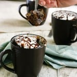 Nutella Mug Cake by EclecticRecipes.com #recipe