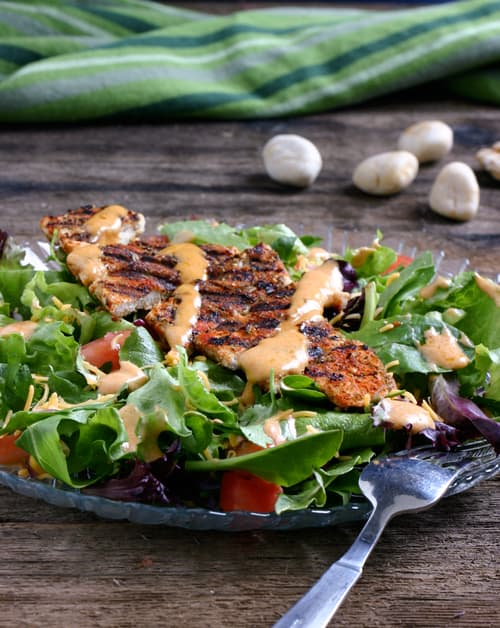 Sante Fe Chicken Salad by EclecticRecipes.com #recipe