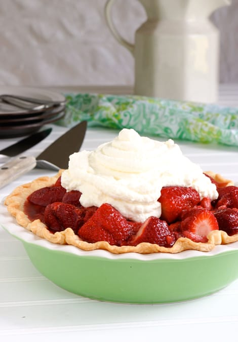 Fresh Strawberry Pie by EclecticRecipes.com #recipe
