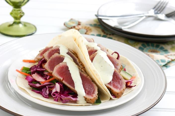 Tuna Tacos @EclecticEveryday