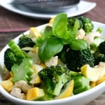 Lemon Basil Stir Fry with Squash and Broccoli @EclecticEveryday