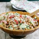 Feta and Chick Pea Salad @EclecticEveryday