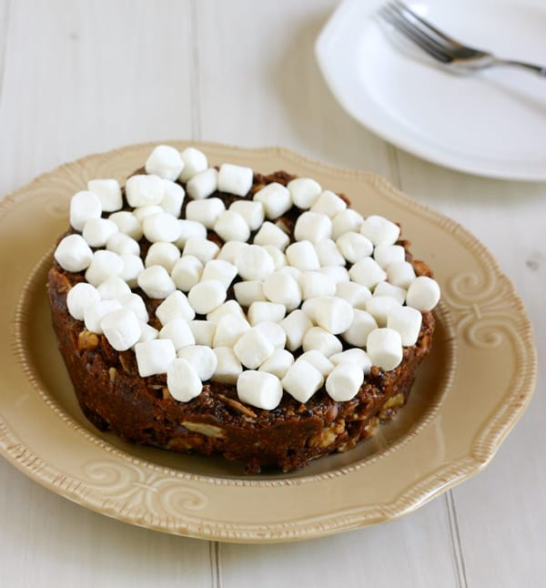 The Grooms Chocolate Fridge Cake to Celebrate the Royal Wedding by EclecticRecipes.com #recipe