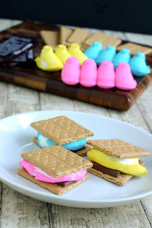 Peeps Smores for Easter @EclecticEveryday
