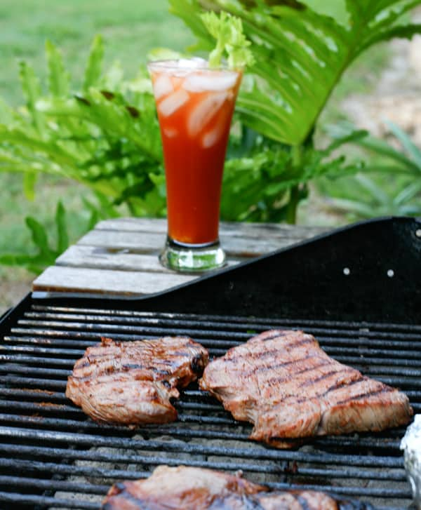 Bloody Mary Grilled Steaks @EclecticEveryday