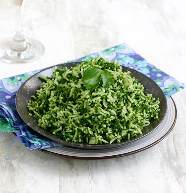 Mexican Green Rice Salad by EclecticRecipes.com #recipe