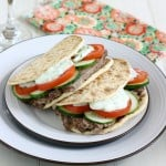 Easy Homemade Gyros by EclecticRecipes.com #recipe