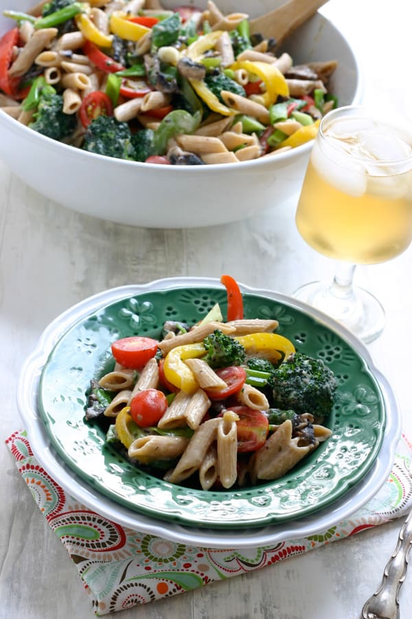 Pasta Primavera by EclecticRecipes.com #recipe