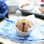 Big Blueberry Muffins with Cinnamon Streusel  @EclecticEveryday