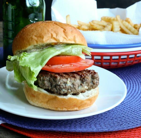 Gorgonzola Burgers @EclecticEveryday