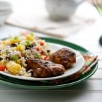 Jamaican Chicken and Rice Salad by EclecticRecipes.com #recipe