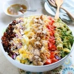 Classic Cobb Salad with Red Wine Lemon Vinaigrette @EclecticEveryday