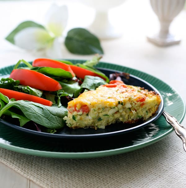Bacon Zucchini Frittata by EclecticRecipes.com #recipe