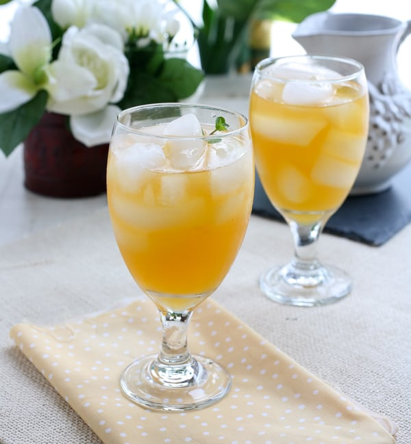 Peach Green Tea by EclecticRecipes.com #recipe