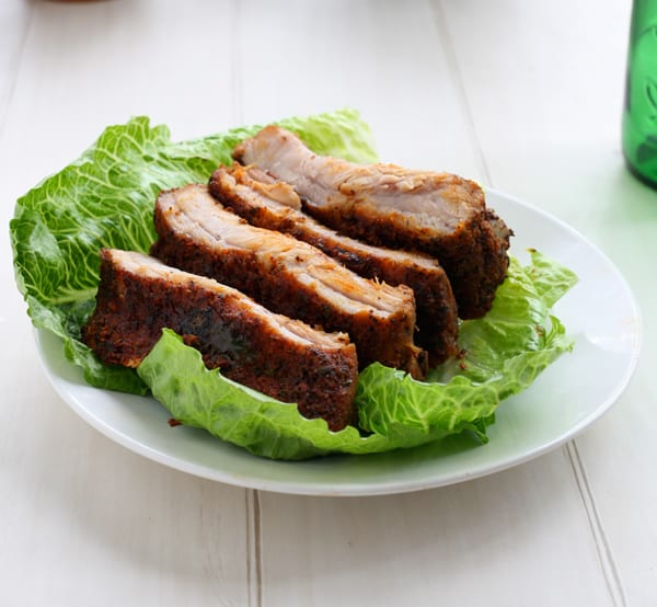 Baby Back Ribs with Spicy Dry Rub by EclecticRecipes.com #recipe