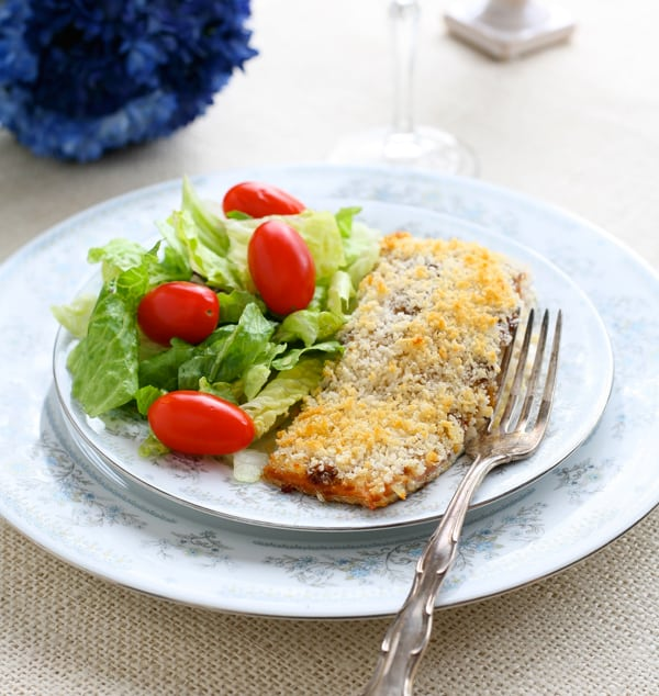 Panko Crusted Salmon by EclecticRecipes.com #recipe