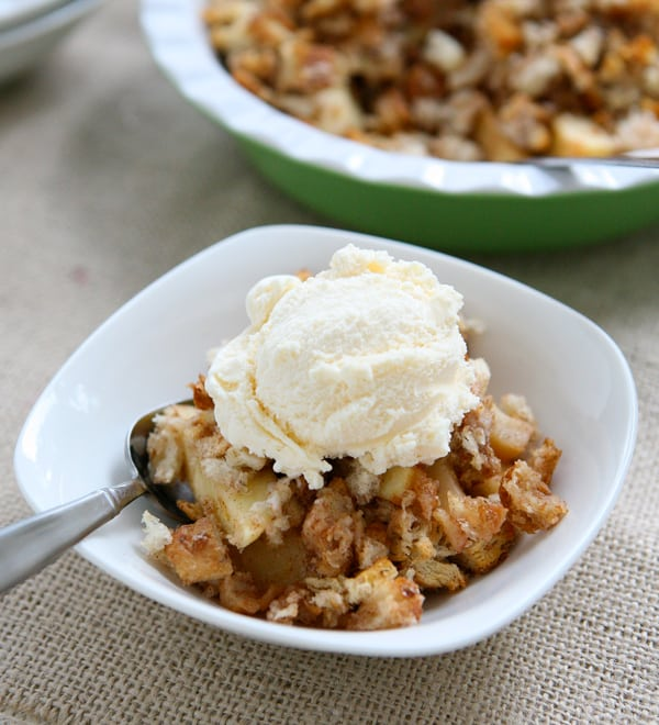 Apple Cinnamon Brown Betty by EclecticRecipes.com #recipe