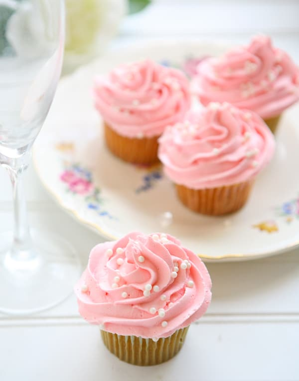 Cook for the Cure: Pink Champagne Cupcakes and a KitchenAid Giveaway by EclecticRecipes.com #recipe