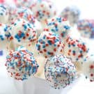 Red White and Blue Cake Pops @EclecticEveryday