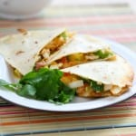 Chicken Club Quesadillas by EclecticRecipes.com #recipe